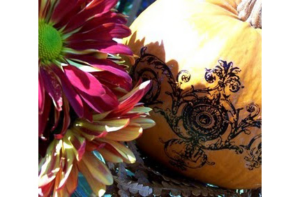 to create tattoos and make these lovely centerpieces for the holidays!