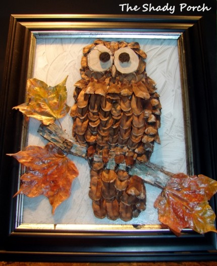 Fun and facts with kids owl craft ideas for kids for Pine cone art projects