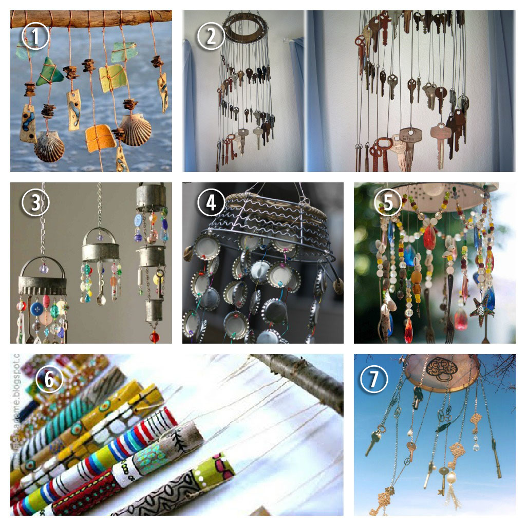 Home and garden page 113 ideas for diy for Wind chime craft projects